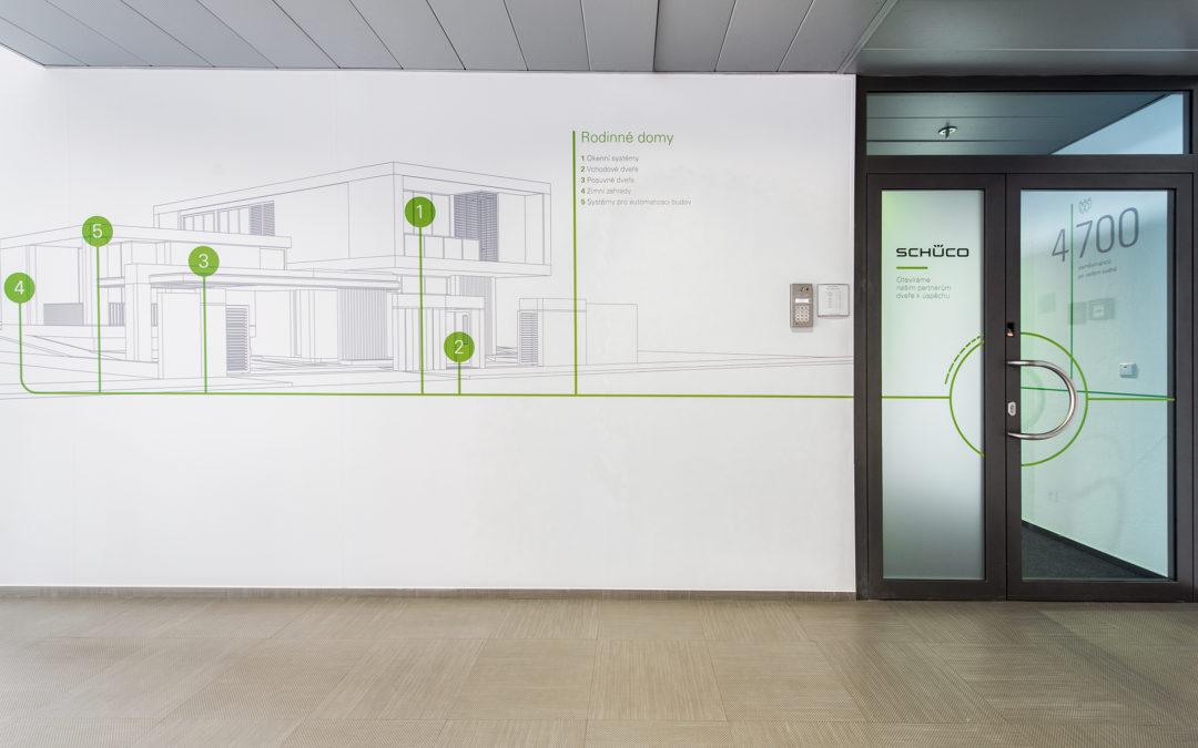 Příběh značky Schüco na stěnách