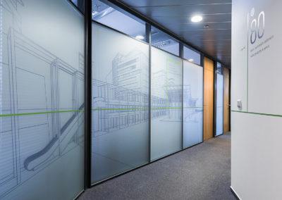 Wallmarketing v interiéru Schüco 06