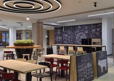 Foodcourt v nákupním centru IGY